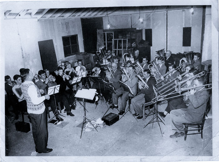 The band room circa 1960